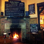 A Welcoming Log Fire at The Hayburn Wyke