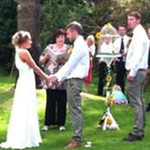 Outside Wedding Service In Hayburn Wyke Gardens