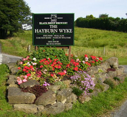 Road Sign For The Entrance Road To The Hayburn Wyke Inn
